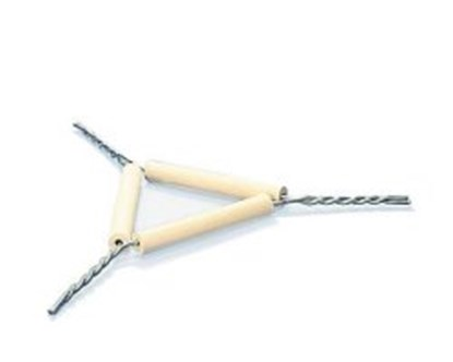 Slika za triangles,iron wire,with pipeclay tubes,