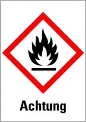 """Slika za hazardous material symbols """"warning of f"""