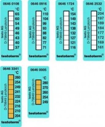 Slika za temperature recording strips,51 x 18 mm