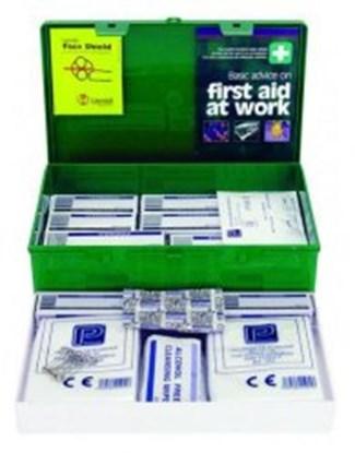 Slika za first aid box green, abs with lid