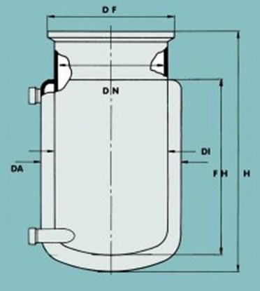 Slika za flat ground flange rection vessel 2000ml